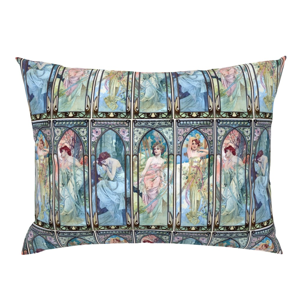 Campine Pillow Sham featuring The Times of the Day by mandamacabre