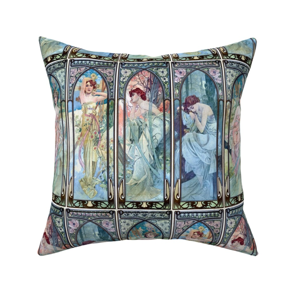Catalan Throw Pillow featuring The Times of the Day by mandamacabre