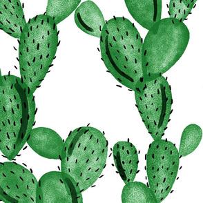 emerald paddle cactus // oversized
