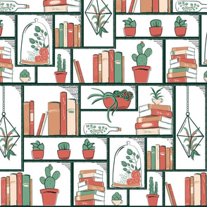 Succulents on Modular Bookcase