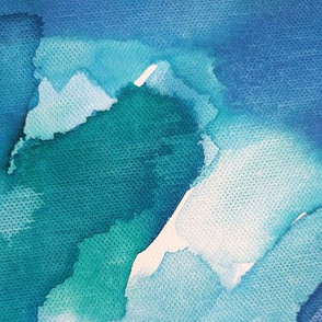 Above the Ocean Abstract Watercolor