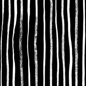 Vertical Illusion White Brush Stroke on black