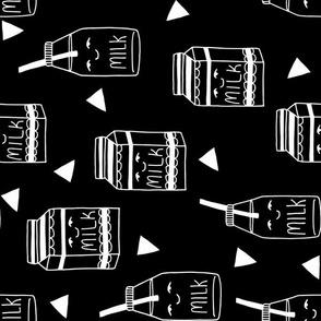 black and white milk jug fabric railroad nursery baby design