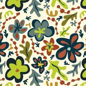 Floral a la Matisse - Multi