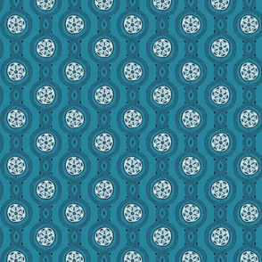 Wistful Blooms - Mandala in blue