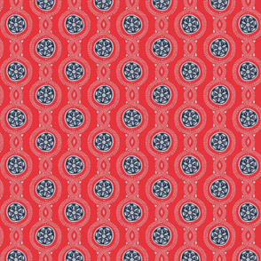 Wistful Blooms - Mandala in red