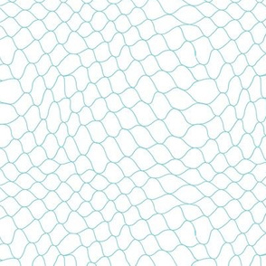Fishnet by Minikuosi (Grid, Net, Web, Hockey Goal, Football Goal) Mint and White Small Size