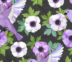 Purple Paper Anemone Collage