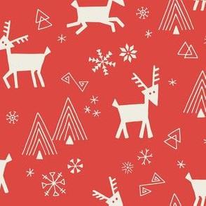 Red Scandi Reindeer