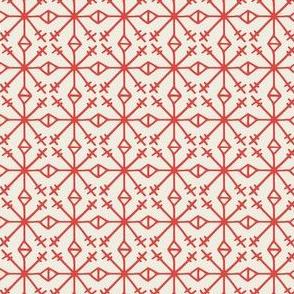 Red Scandi Snowflake
