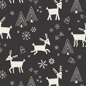 Black Scandi Reindeer