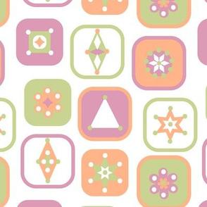 Retro geometric pattern .