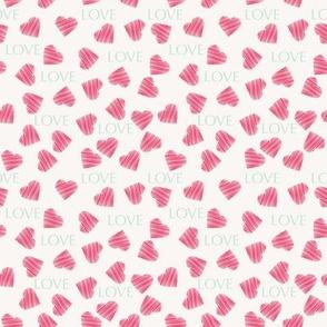 Hearts pattern Valentines day