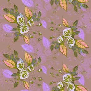 Roses dark mauve background