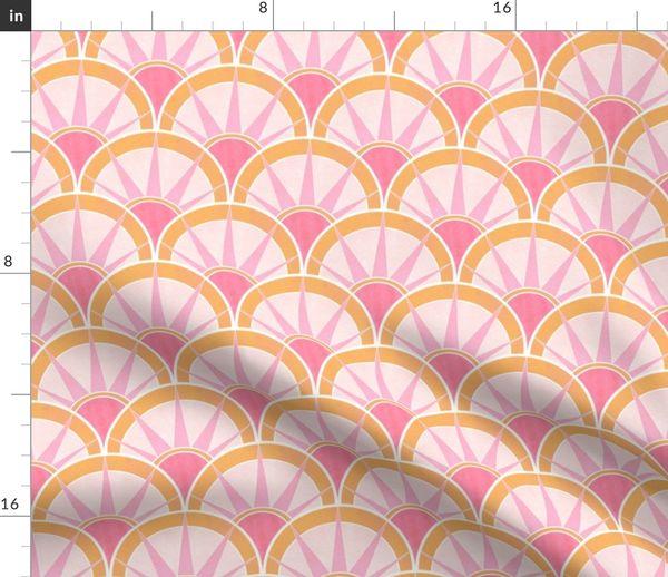 6302520 pink orange deco fancy fan by suzzincolour