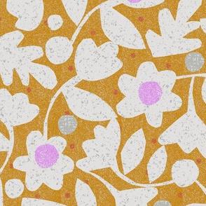 spring flowers-cut paper