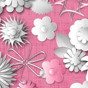Paper Cut Flowers (Pale Raspberry)