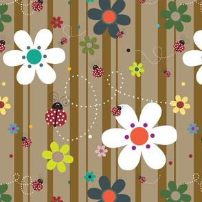 FlowersWithLadybugsBrown