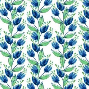 Indigo Floral Small