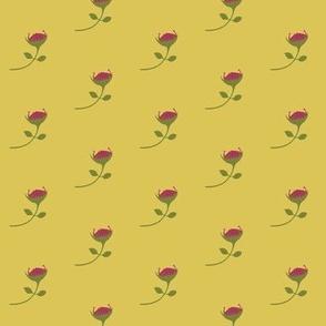 Protea  - multi yellow - medium scale