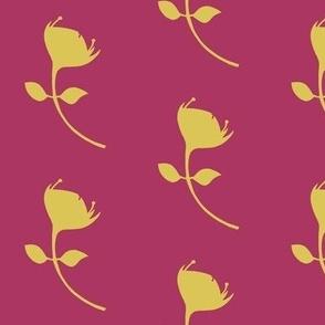 single protea - fuschia/yellow - lrg scale