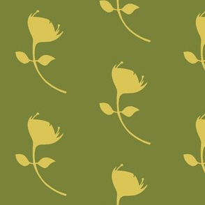 single protea - green/yellow - lrg scale
