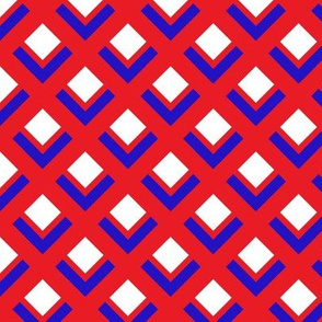 60s Mod Red White and Blue small