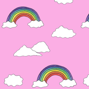 Clouds and Rainbows Pink