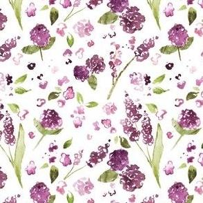 Plum Watercolor Wildflower