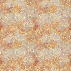 Project 330 | Watercolor Starfield | Gold & Cream with Swirls