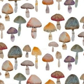 Watercolor Mushrooms - Naturals