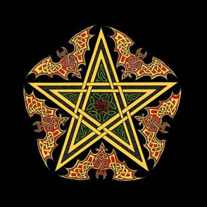 Celtic Bat Star on Black