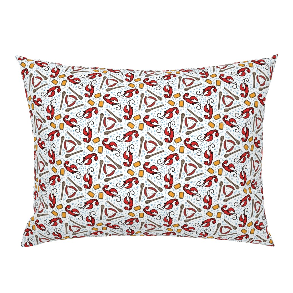 Campine Pillow Sham featuring Crawfish Boil by the_wookiee_workshop