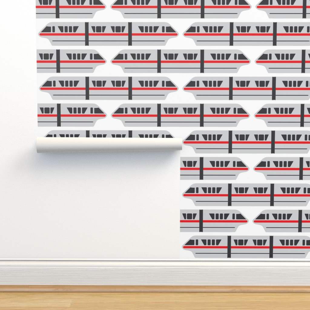 Isobar Durable Wallpaper featuring Monorail - Red by the_wookiee_workshop