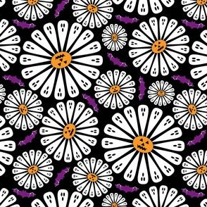 Halloween Floral Black Small