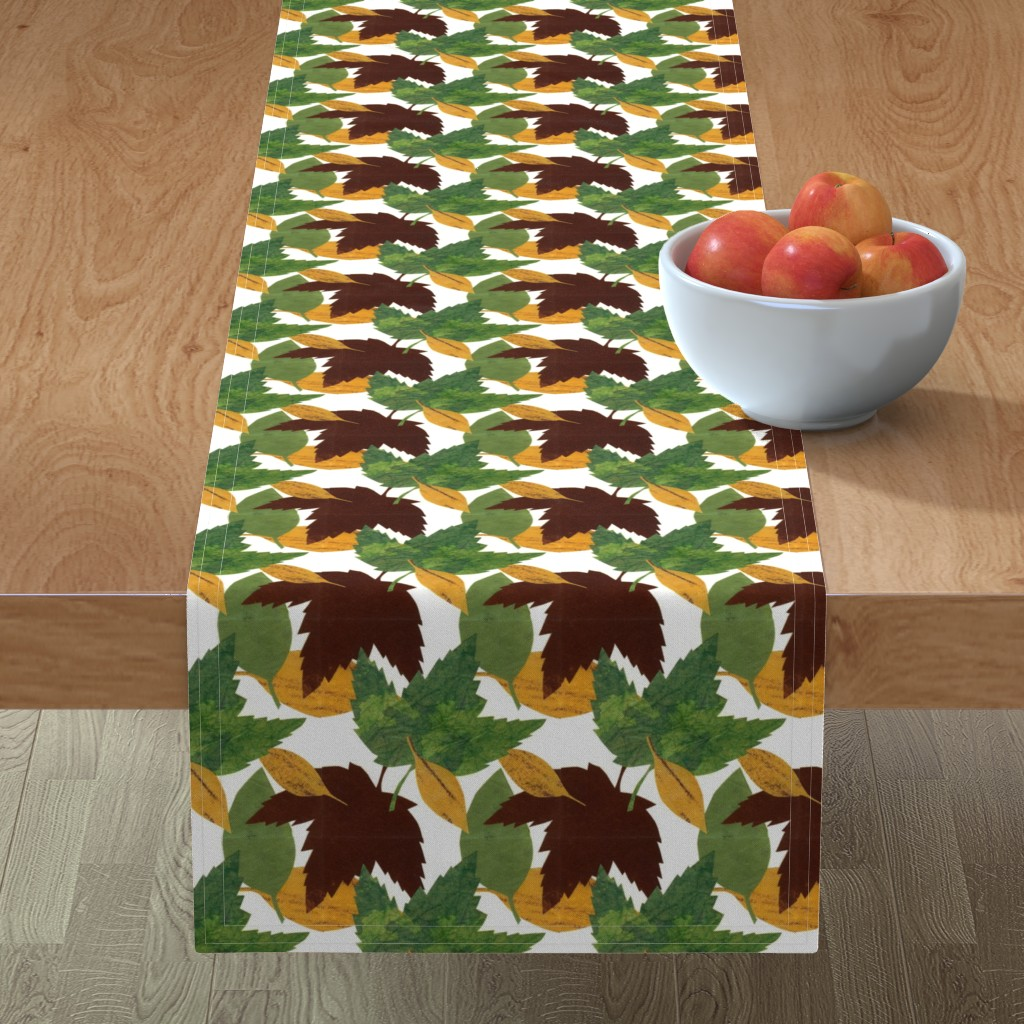 Minorca Table Runner featuring Autumn Leaves by sueclancy