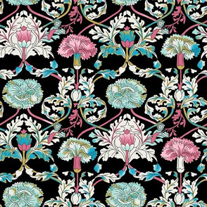 Baroque Floral - Black