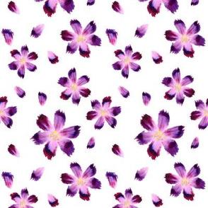 Aquarelle flowers_white