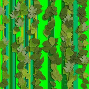 green_leaves_stripe_vertical_pattern