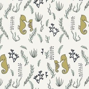 Seahorses And Seaweed // by Sweet Melody Designs