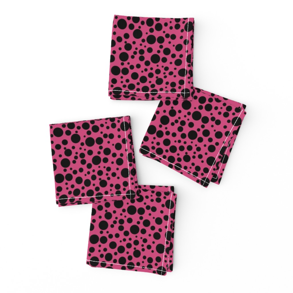 Frizzle Cocktail Napkins featuring Ladybird Spot - Ladybird Pink - Small by inscribed_here