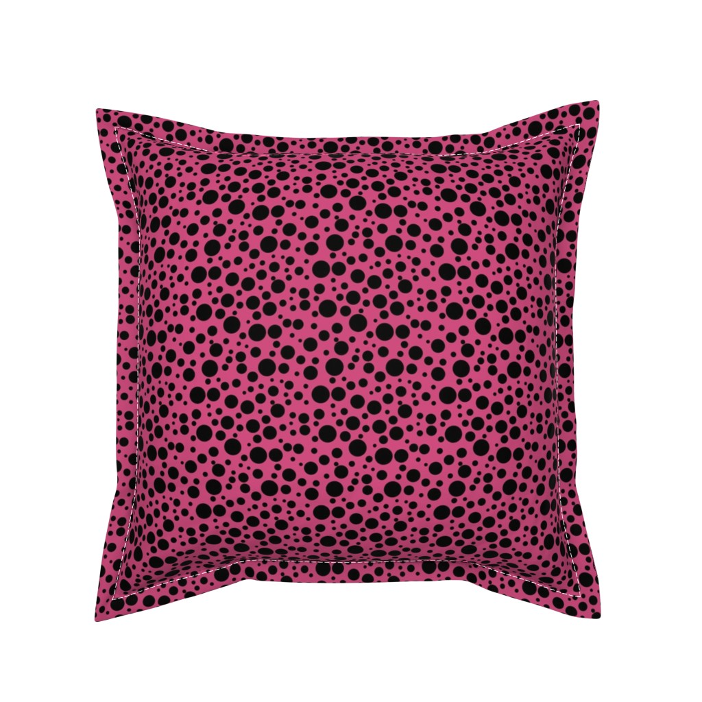 Serama Throw Pillow featuring Ladybird Spot - Ladybird Pink - Small by inscribed_here