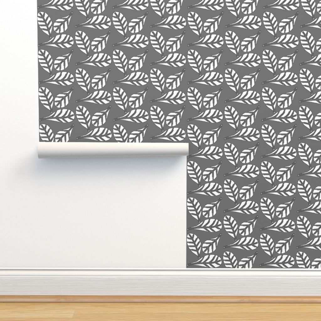 Isobar Durable Wallpaper featuring Natures beauty -grey n white  by franbail
