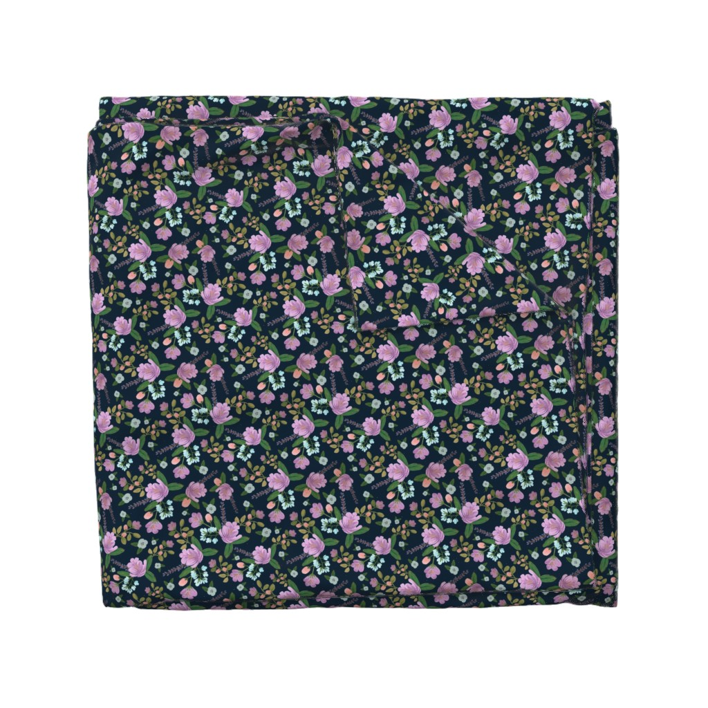 Wyandotte Duvet Cover featuring Golightly Floral by shelbyallison