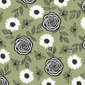 Honeybee Patch - Green