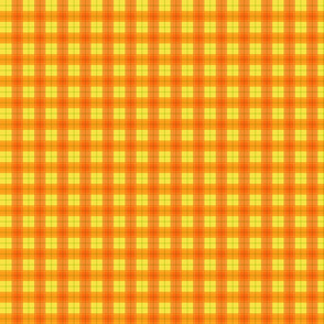 Orange Halloween Plaid Smaller
