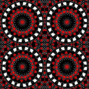 red_black_white_diamond_weave_kaleidoscope_pattern_1