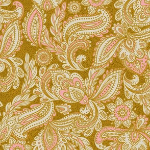 French Paisley - Gold