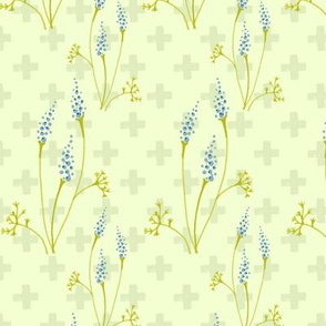 Lavender blossom cross
