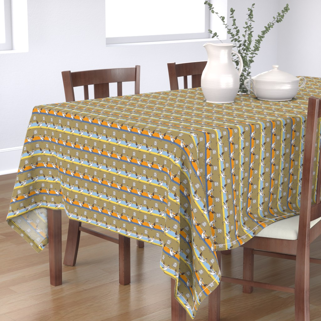 Bantam Rectangular Tablecloth featuring Roadrunner and agave #06 by colorofmagic
